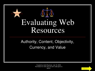 Evaluating Web Resources