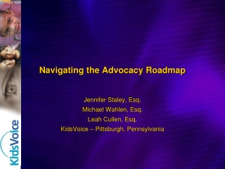 Navigating the Advocacy Roadmap