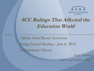 SCC Rulings That Affected the Education World