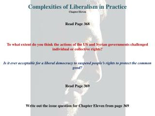 Complexities of Liberalism in Practice Chapter Eleven