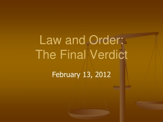 Law and Order:  The Final Verdict