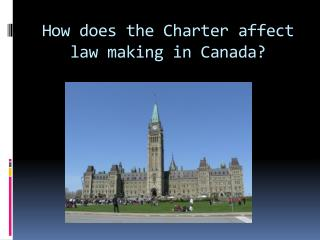 How does the Charter affect law making in Canada?