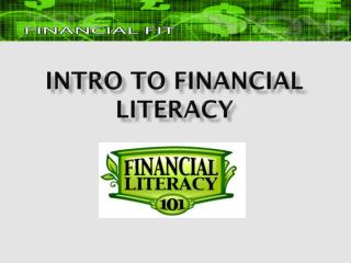 Intro to Financial Literacy