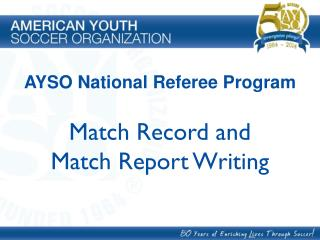 Match Record and Match Report Writing