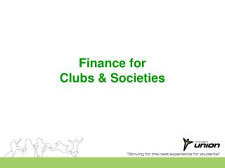 Finance for Clubs & Societies