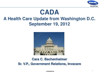 CADA A Health Care Update from Washington D.C. September 19,  2012