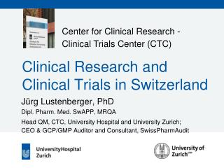 Clinical Research and  Clinical Trials in Switzerland