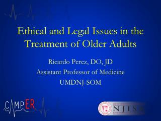 Ethical and Legal Issues in the Treatment of Older Adults