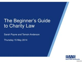 The Beginner's Guide to Charity Law