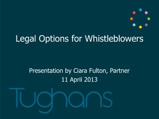 Legal Options for  Whistleblowers
