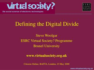 Defining the Digital Divide