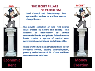 THE SECRET PILLARS 	    			OF CAPITALISM Land  Control and Debt-Money: Two systems that enslave us and how we can change