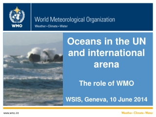 Oceans in the UN and international arena The role of WMO WSIS, Geneva, 10 June 2014