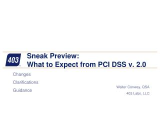 Sneak Preview: What to Expect from PCI DSS v. 2.0