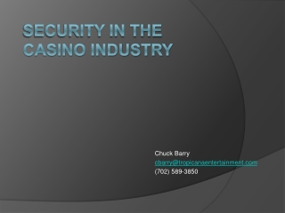 Security in the  Casino Industry