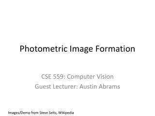 Photometric Image Formation