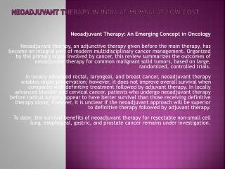 neoadjuvant therapy in india at mumbai at low cost
