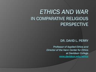 Upcoming Events Vann Center for Ethics