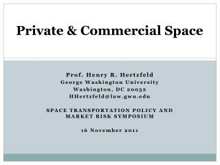 Private & Commercial Space