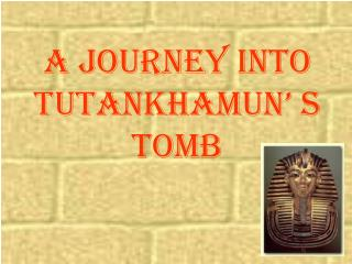 A Journey into Tutankhamun' s  Tomb