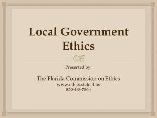 Local Government Ethics