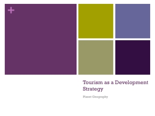 Tourism as a Development  S trategy