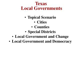 texas  local governments