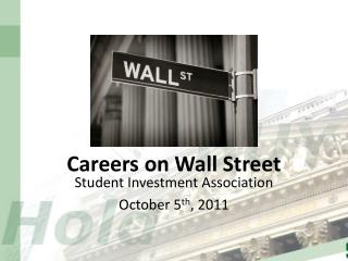 Careers on Wall Street
