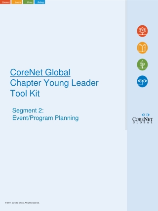CoreNet Global Chapter Young Leader Tool KitSegment 2:NetworkingEvent  Planning