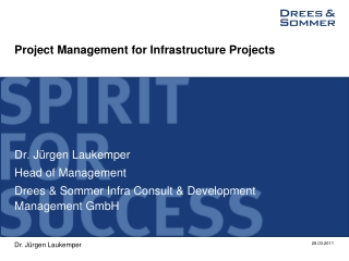 Project Management  for  Infrastructure Projects