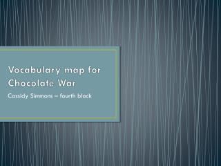 Vocabulary map for Chocolate War
