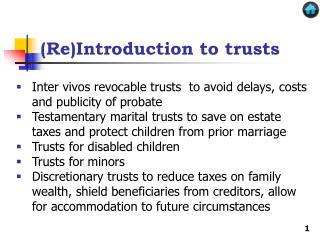 (Re)Introduction to trusts
