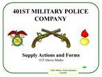 401st military police company