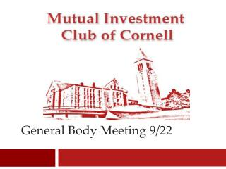 General Body Meeting 9/22