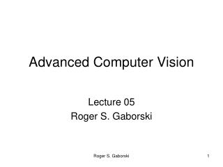 Advanced Computer Vision