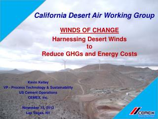 Harnessing Desert Winds to Reduce GHGs and Energy Costs
