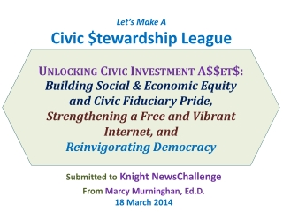 Let's Make A Civic $ tewardship  League