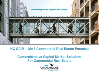 Comprehensive Capital Market Solutions For Commercial Real Estate