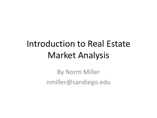 Introduction to Real Estate Market Analysis