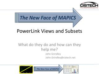 PowerLink Views and Subsets
