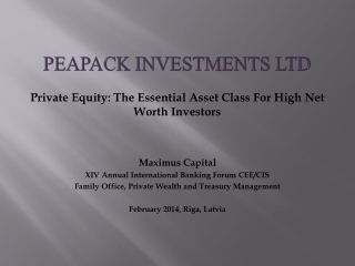 Peapack Investments Ltd