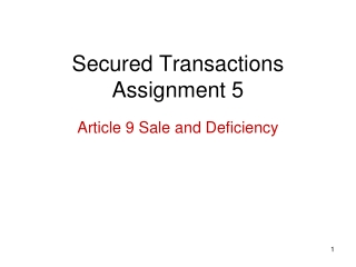 Secured Transactions Assignment 5
