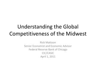 Understanding the Global Competitiveness of the Midwest