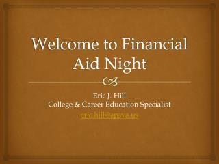 Welcome to Financial Aid Night