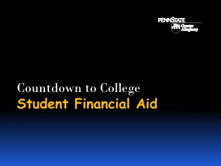 Countdown to College Student Financial Aid