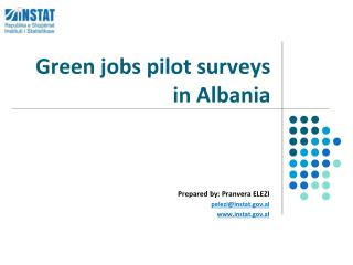Green jobs pilot surveys in Albania