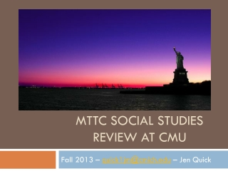 MTTC Social Studies Review at CMU