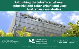 Rethinking the interface between  industrial  and  other urban  land uses        … Australian  case  studies
