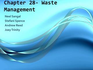 Chapter 28- Waste Management