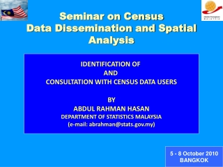 Seminar on Census  Data Dissemination and Spatial Analysis
